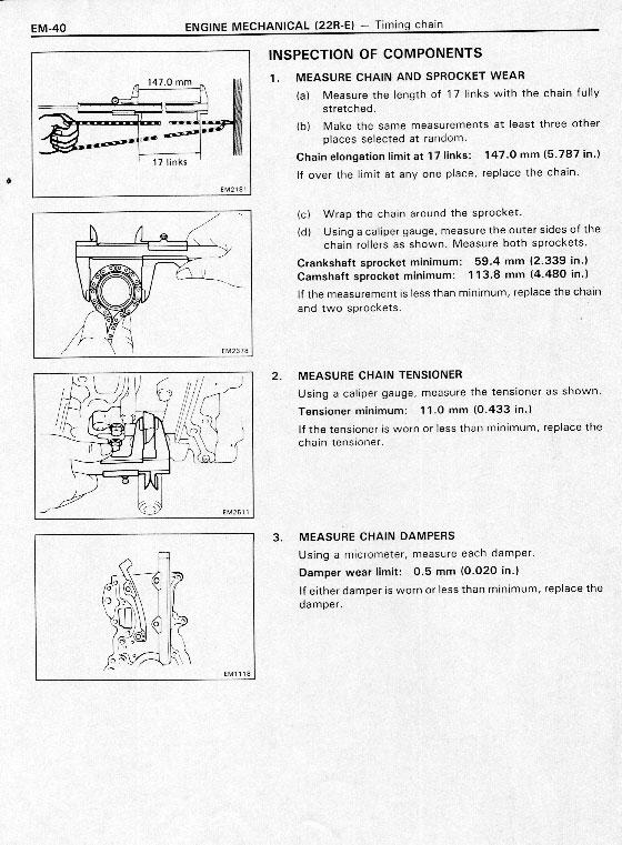 Замена цепи ГРМ на двигателе 22R
