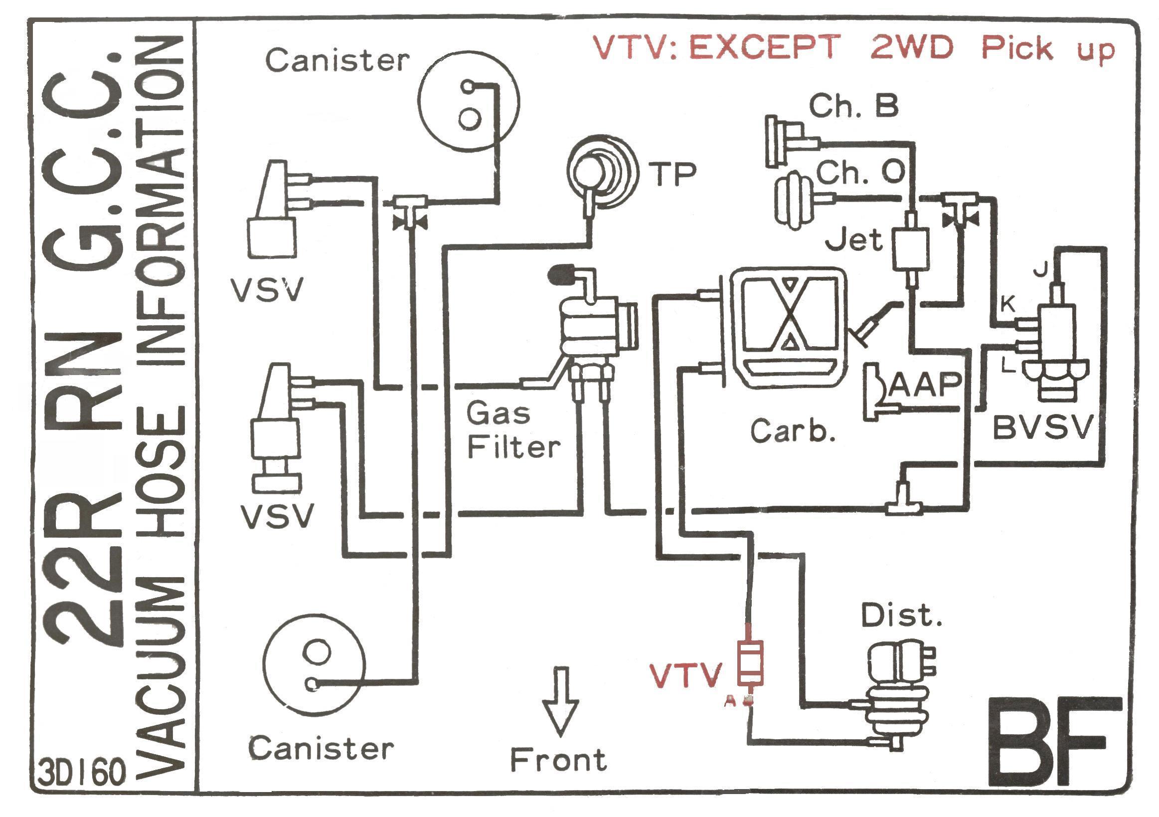 схема подключения вакуумных шлангов двигателя 3vz-e