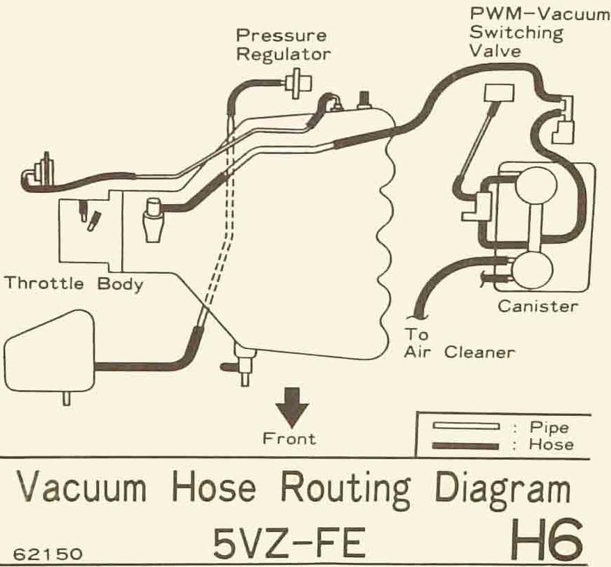Схема двигателя 5vz fe